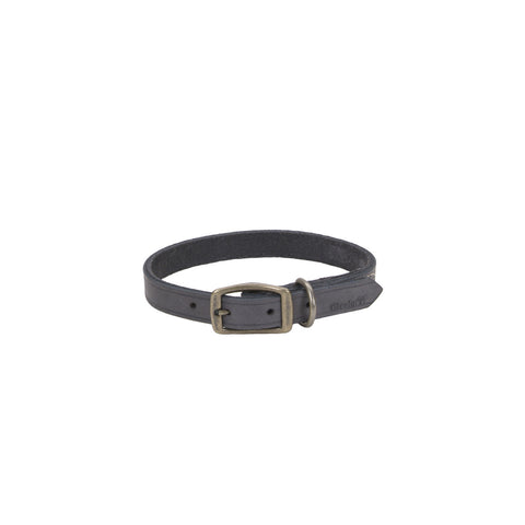 Circle T Rustic Leather Collar Slate Grey