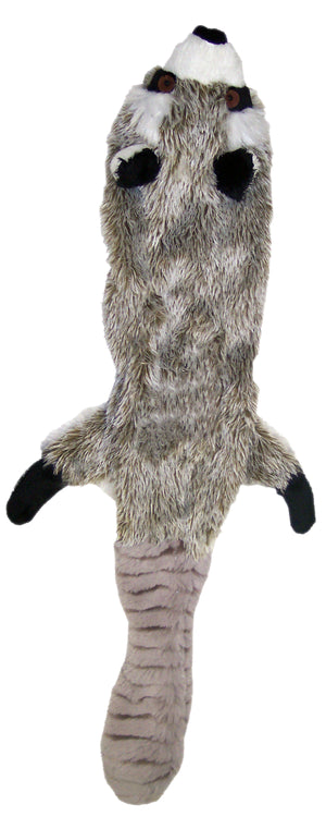 spot skinneeez plush raccoon dog toy