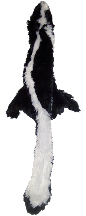 spot skinneeez plush skunk dog toy
