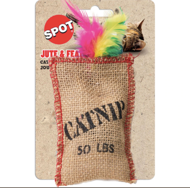 SPOT Jute & Feather Sack with Catnip