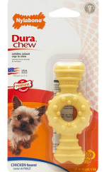 Nylabone DuraChew Petite Textured Ring Bone - Chicken