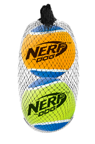 NERF DOG Squeak Tennis Balls Large 2pk