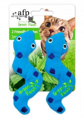 All For Paws Cat Toy Silly Snake with Catnip 2pk