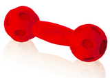 NERF DOG Squeak Barbell Medium Red