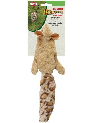 SPOT Skinneeez Jumbo Squirrel for Cats