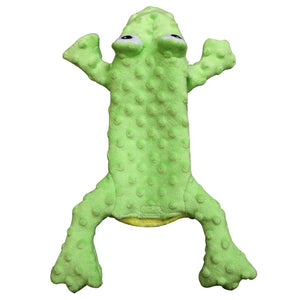 ethical pet spot skinneeez extreme stuffer frog water bottle toy
