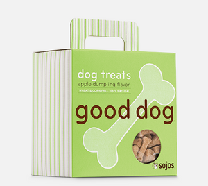 sojos dog treats apple dumpling flavor good dog 755709803086 557094