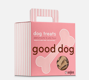 sojos dog treats peanut butter and jelly falvor good dog 755709702082 557093