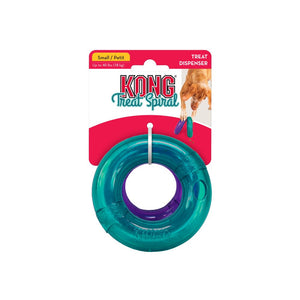 kong treat spiral ring interactive puzzle dog toy small