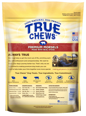 True Chews Premium 100% Steak Morsels