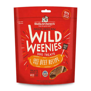 Stella & Chewy's Wild Weenies Grass Fed Beef Freeze-Dried Dog Treats 3.25 oz