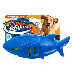 nerf dog super soaker squeak shark football