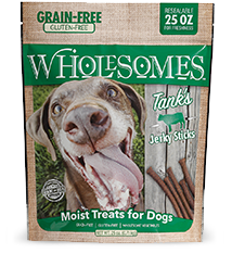 Wholesomes Grain Free Tank's Moist Beef Treats 25 oz