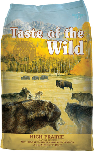 taste of the wild high prairie roasted bison and roasted venison dog food dog diet adult