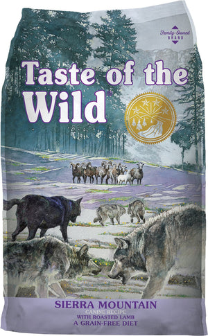 taste of the wild sierra mountain roasted lamb dog food dog diet