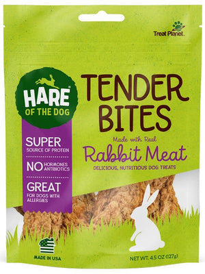 Hare of the Dog 100% Rabbit Tender Bites 4.5 oz