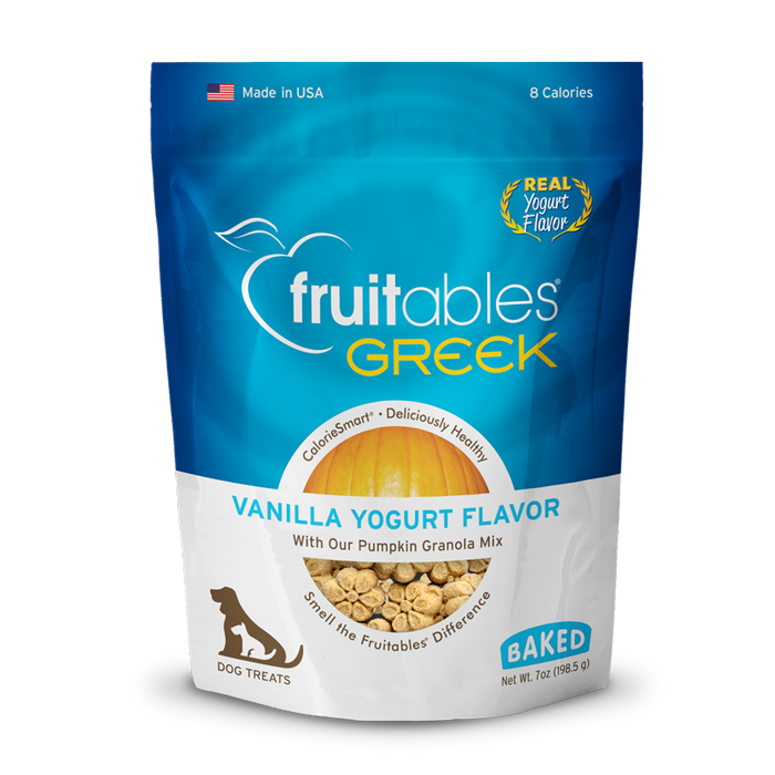 Fruitables Baked Greek Yogurt Vanilla Flavor Dog Treats 7oz