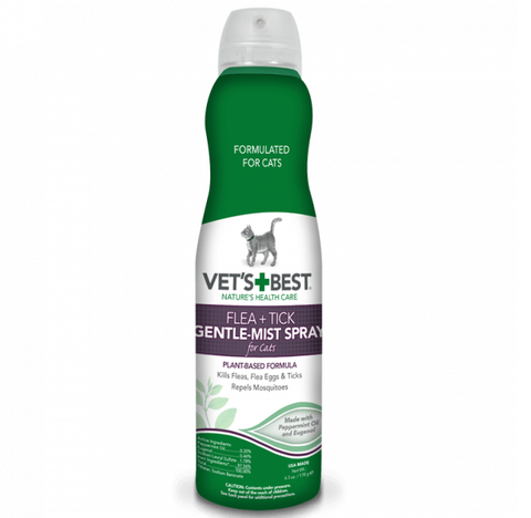 Vet's Best Flea and Tick Gentle Mist for Cats 6.3 oz