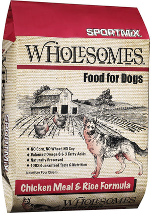 wholesomes sportmix sport mix whole somes dog food chicken meal and rice dog diet