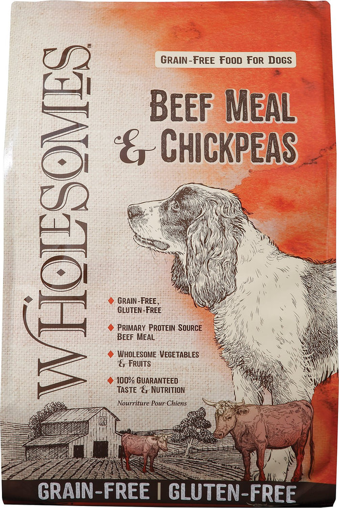 Wholesomes Grain Free Beef Meal and Chickpea Dog Food