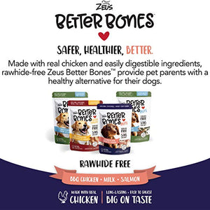 zeus better bone bbq chicken minis bone rawhide alternative 022517927410 92741