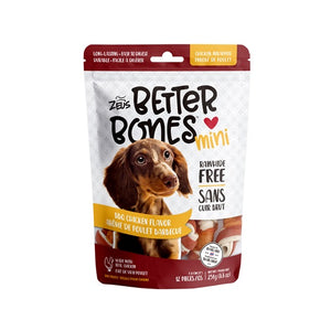 zeus better bone bbq chicken wrapped mini bone rawhide alternative 022517927441 92744