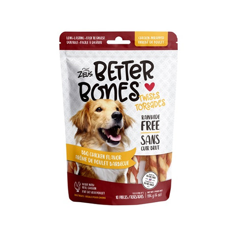 zeus better bones twist bbq chicken wrap rawhide alternative 022517927458 92745