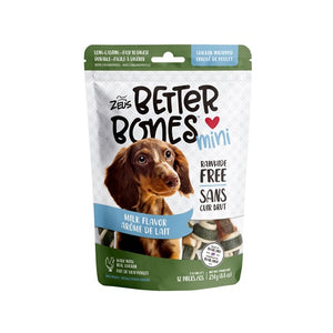 zeus better bones milk chicken rawhide alternative chew 022517927540 92754