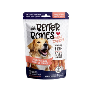 zeus better bones rawhide alternative salmon chicken wrap wrapped twist 022517927601 92760