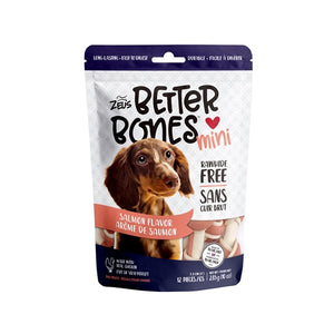 zeus better bones rawhide alternative salmon bone 022517927564 92756