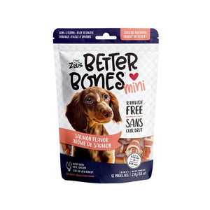 zeus better bones rawhide alternative salmon chicken wrap wrapped bone 022517927595 92759
