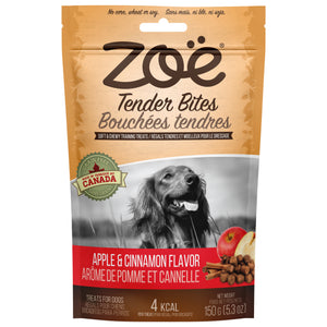 zoe tender bites apple and cinnamon flavor dog treats