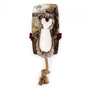 all for paws afp classic dog toy russel beaver rope toy
