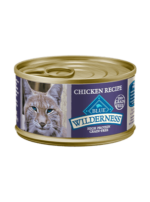Blue Buffalo Wilderness® Grain-Free Canned Chicken Recipe Moist Adult Cat Food