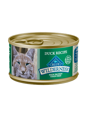 Blue Buffalo Wilderness® Grain-Free Canned Duck Recipe Moist Adult Cat Food