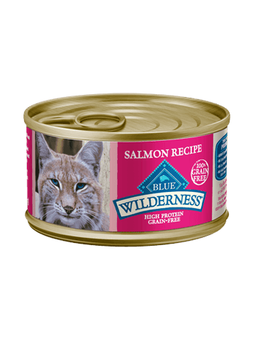 Blue Buffalo Wilderness® Grain-Free Canned Salmon Recipe Moist Adult Cat Food