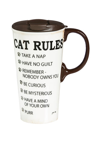Copy of Decorative Travel Mug: Cat Rules