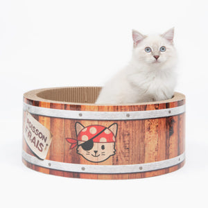 catit cat it pirates barrel scratcher cat toy