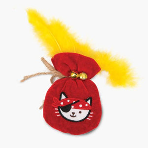 catit cat it pouch of gold cat toy with catnip