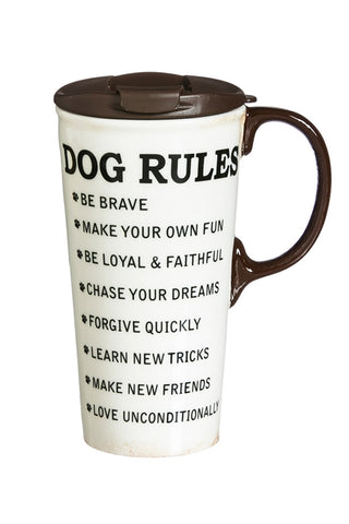 Copy of Copy of Decorative Travel Mug: Dog Rules