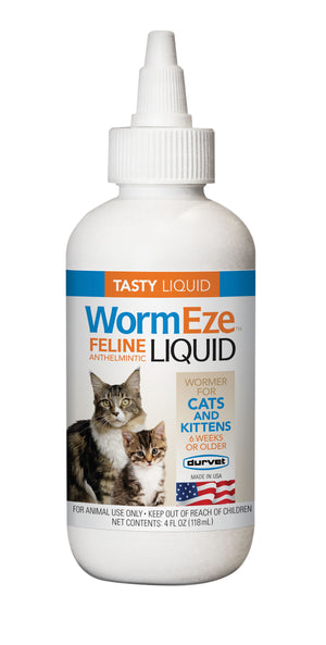 durvet WormEze™ Liquid for Cats & Kittens 4 oz