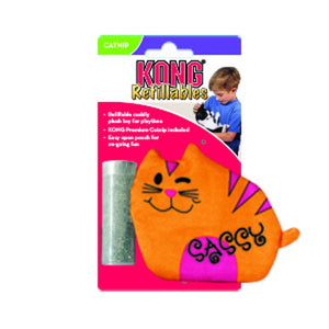 kong purrsonalities personalities refillable catnip cat toy sassy