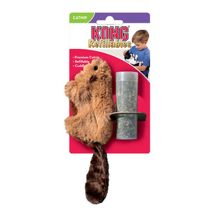 kong refillables re fillables beaver cat toy catnip