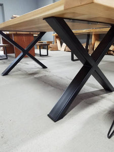 "Set of 2 ""X"" Tube Steel Legs, Powder Coated - Table & Shipping Not Included"
