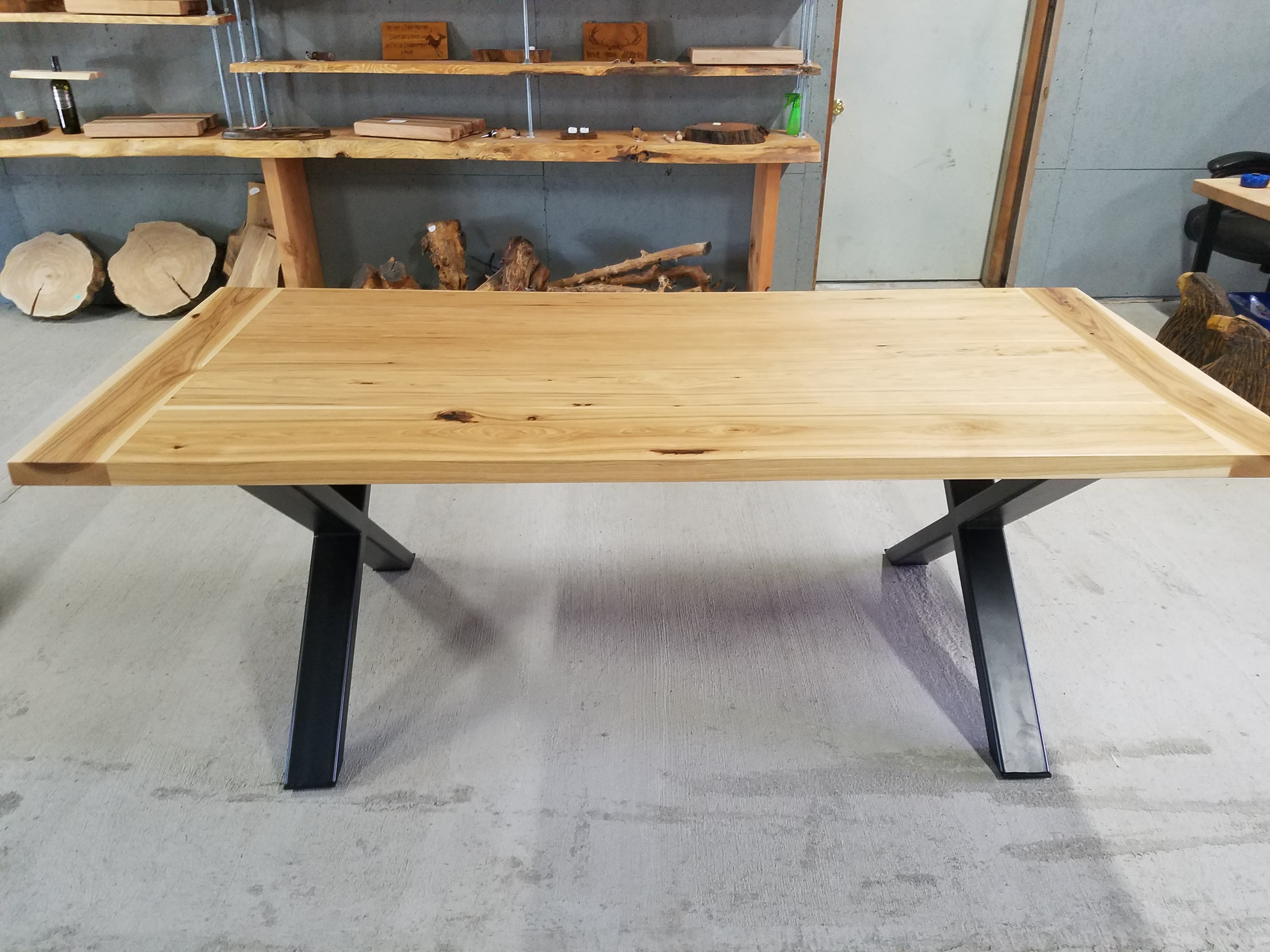 Hickory Farmhouse Style Dining Room Table - Shipping Not Included