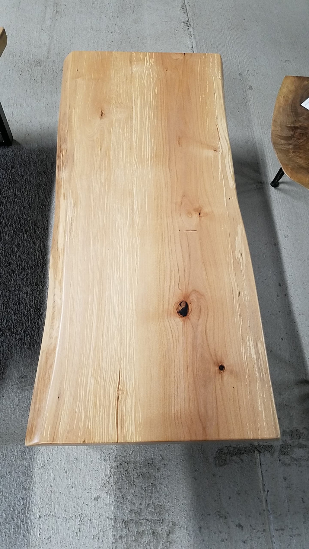Maple Live Edge Coffee Table - free shipping to U.S