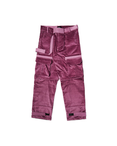 PINEL PURPLE CORDUROY CARGO PANTS