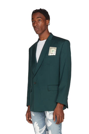 ARSENE FOREST GREEN DOLLAR BLAZER