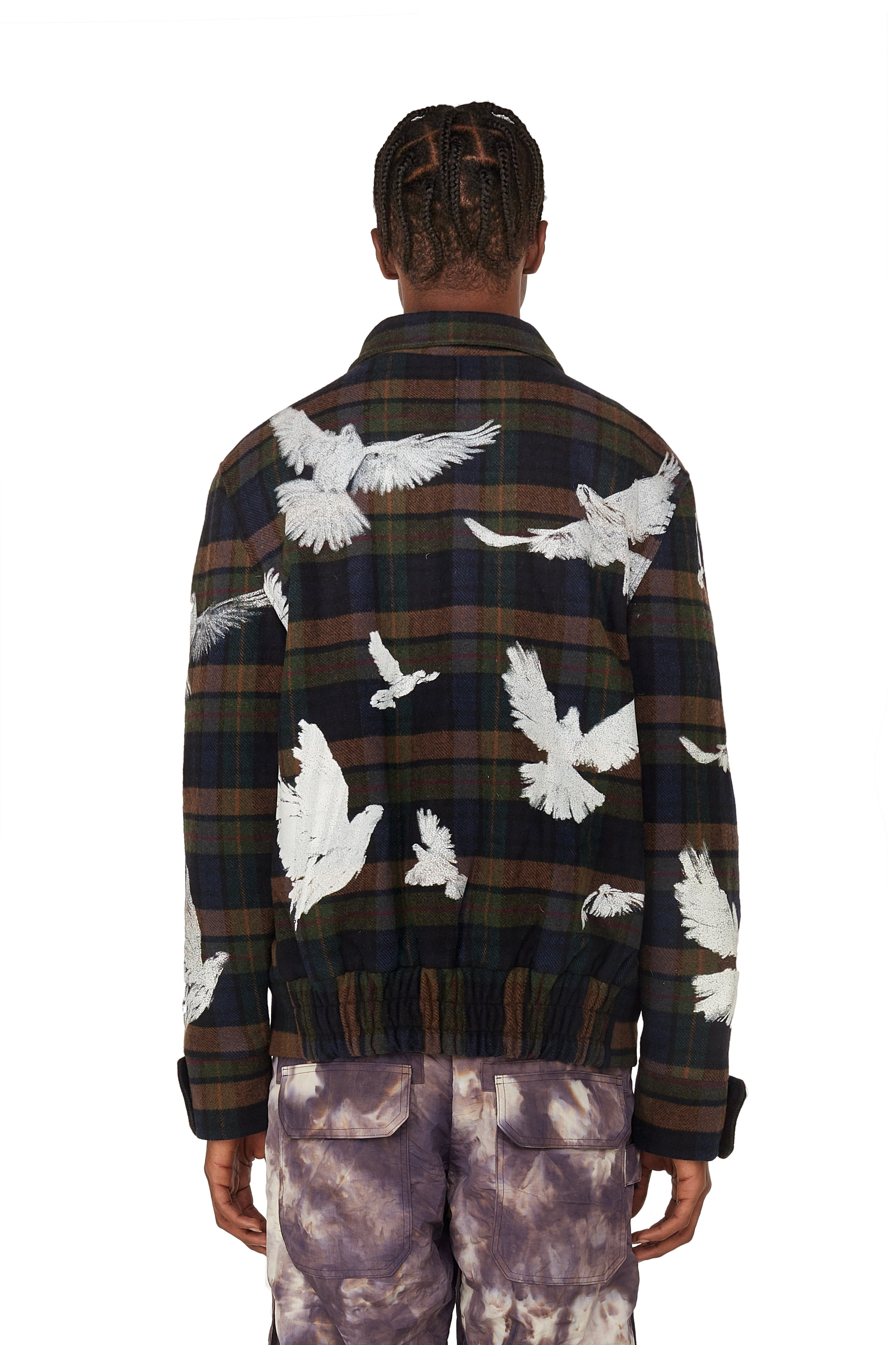 SOLACE FLYING BIRDS WOOL JACKET