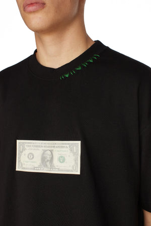 ANA DOLLAR BLACK T-SHIRT
